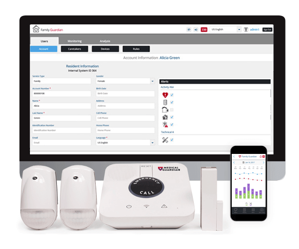 Family Guardian medical alert system by Medical Guardian.